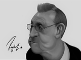 Florentino Perez Caricature Final  27th May 2021 Black And White