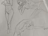 Figures and a question on the drawing process