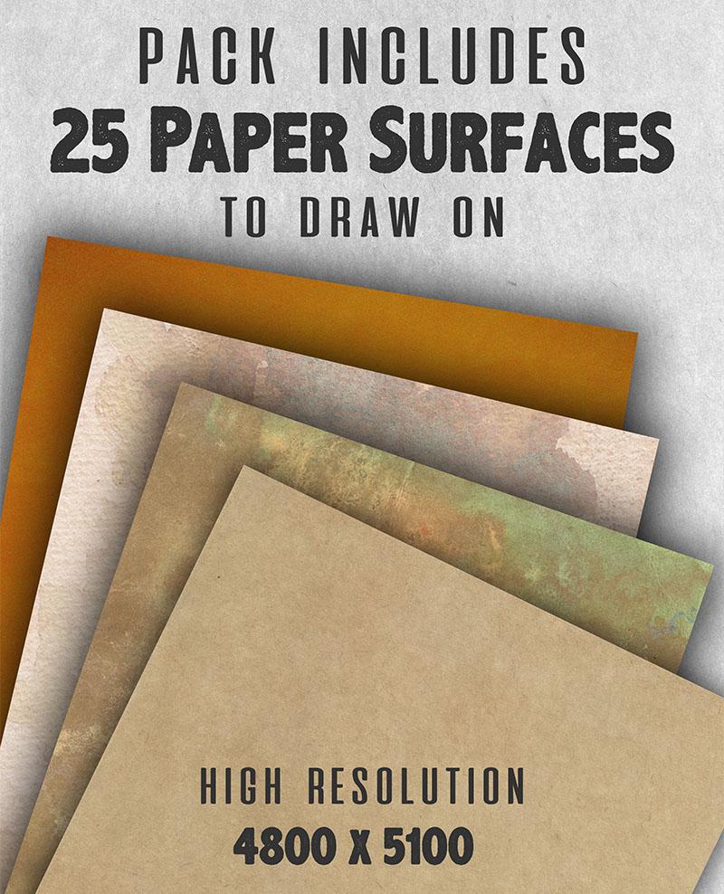 Hi Resolution Paper Textures for Digital Artists