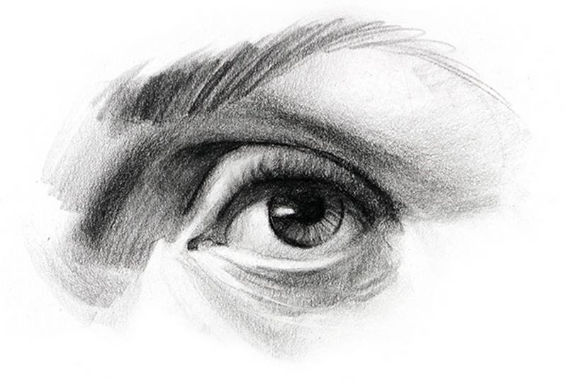 how to draw eyes finished