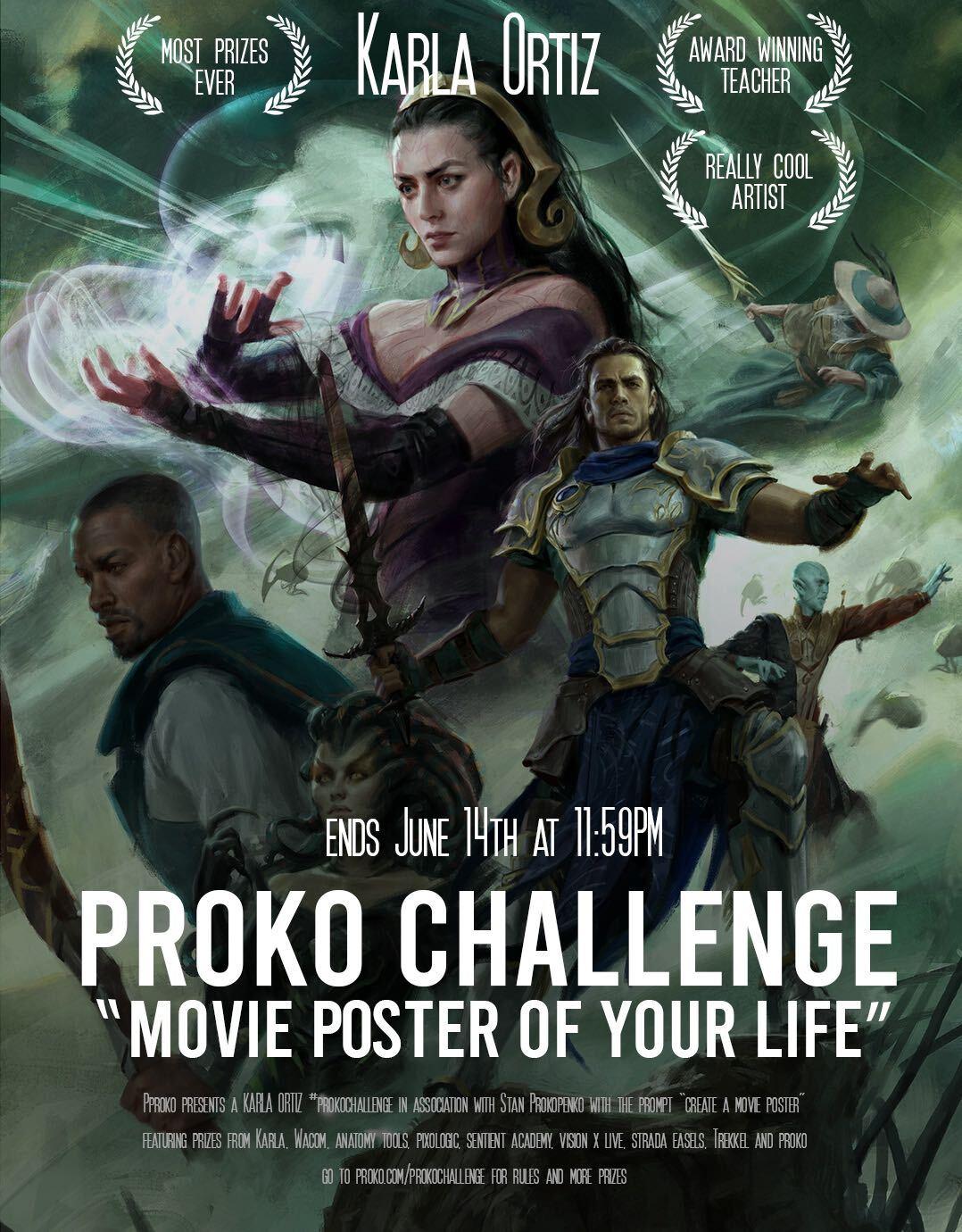 Karla Ortiz Movie Poster Proko Challenge